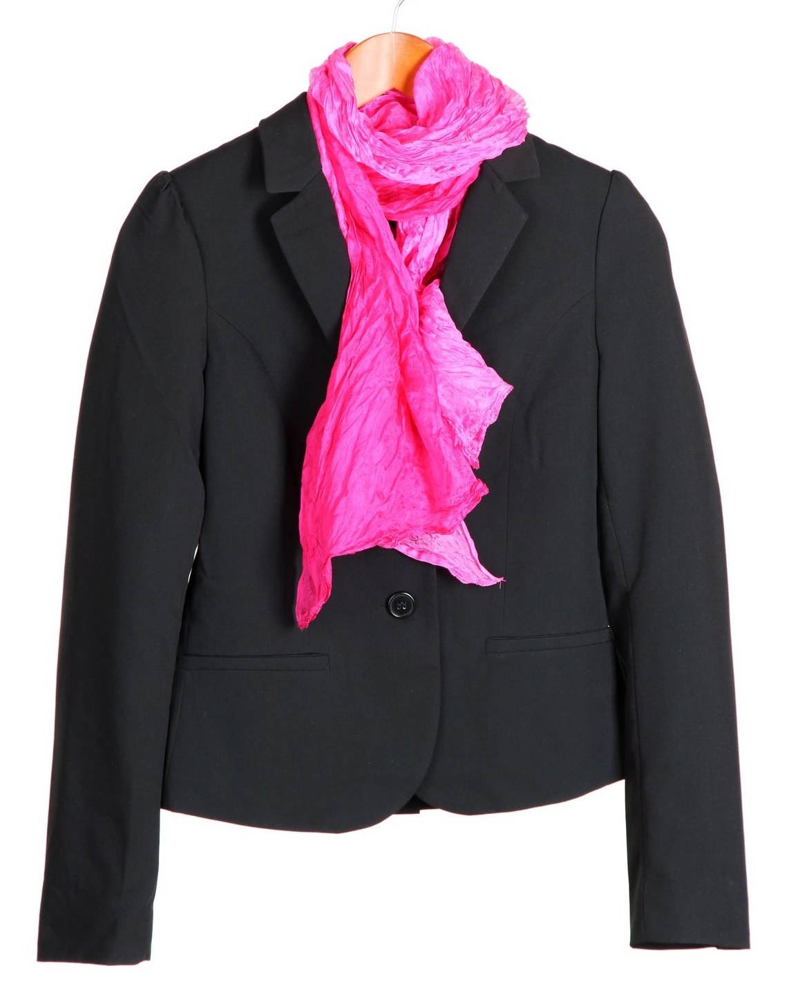 Add a black blazer & scarf